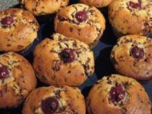 Mandel-Kirsch Muffins - Rezept