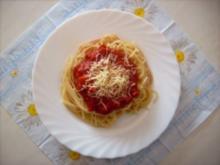 Spagetti mit Tomatensoße - Rezept - Bild Nr. 2