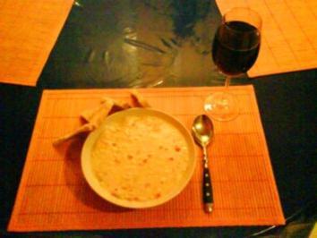 Rezept: Suppe: Maiscremesuppe mit Paprika und Thunfisch