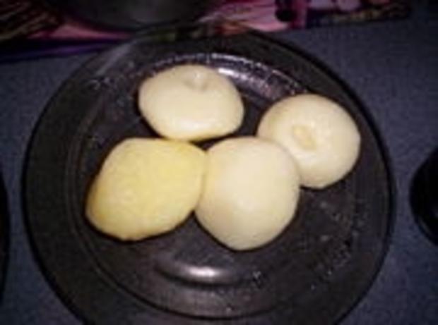 Schlesische Kartoffelklöße mit goldbraunen Zwiebeln - Rezept