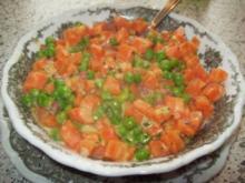 Möhren  -Erbsengemüse - Rezept