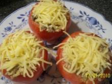 Aus dem Backofen - gefüllte Tomaten überbacken - Rezept