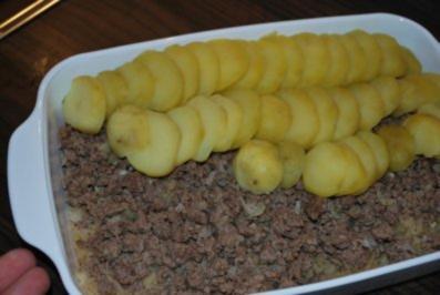 Sauerkraut-Hack-Kartoffel-Auflauf - Rezept