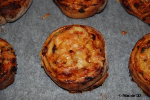 Pizzaschnecken 2.Variante - Rezept
