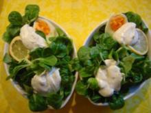 Feldsalat mit Dill-Sahnedressing und Ei - Rezept