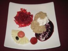 Mokka-Mousse mit Rumsahne - Rezept