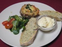 Gefüllter Champignon mit Hack, Knoblauch, Tomaten und Käse überbacken - Rezept