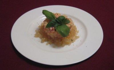 Flusskrebssalat mit Apfelgelee - Rezept