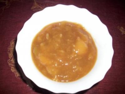 Teufelchens Pfirsichmus mit Stückchen - Rezept