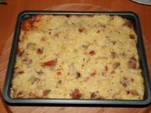 Reisauflauf mit Bratwurst und Pilzen - Rezept