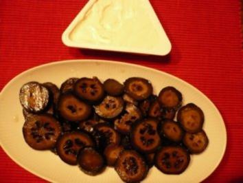Schwarze Walnüsse mit Käse - Rezept