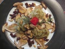 Frische Steinpilze an Olivenpasta - Rezept