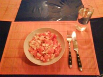 Rezept: Salat: Tomaten-Schafskäsesalat