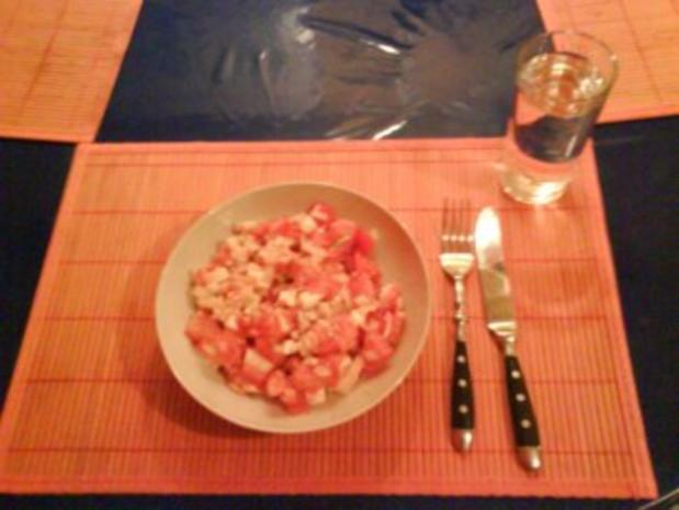 Salat: Tomaten-Schafskäsesalat - Rezept