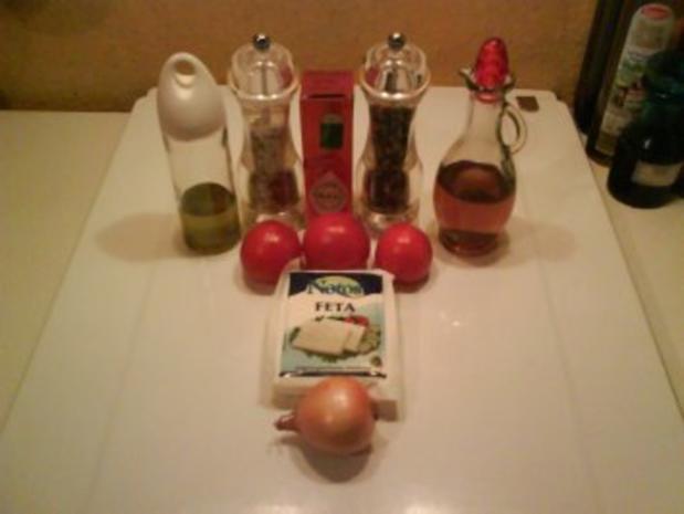 Salat: Tomaten-Schafskäsesalat - Rezept - Bild Nr. 2