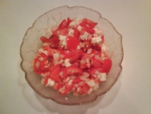Salat: Tomaten-Schafskäsesalat - Rezept - Bild Nr. 4