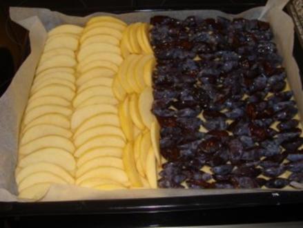 Apfel-Zwetschen Kuchen - Rezept