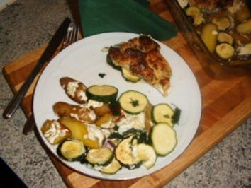 Seelachsfilet mit Frischkäsekruste - Rezept