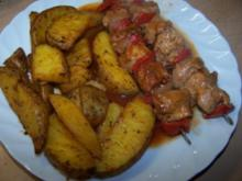 Putenschaschlik mit Ofenkartoffeln, WW geeignet - Rezept