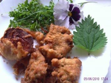 Rezept: Brennesselblätter gebacken in Bierteig