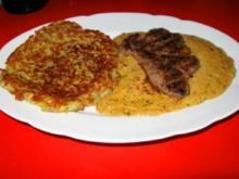 Pfefferrahm-Steak mit Rösti - Rezept