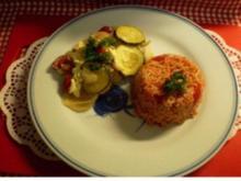 Tomatenreis zum Griechischen Fisch - Rezept