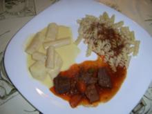 Barolofleischtopf mit Fussili und Schwarzwurzelgemüse - Rezept