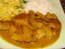 Fleisch : - Schweinefiletstreifen in Currysauce - - Rezept