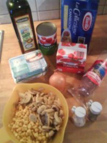 Cannelloni mit Frischkäse-Salami-Füllung und Tomatensoße - Rezept - Bild Nr. 2