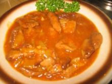 Fleisch: Geschnetzelte Schweineleber an Marsalasösschen - Rezept