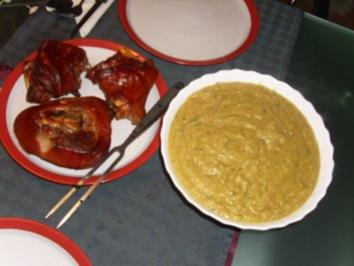 Fleischgerichte: Eisbein mit Erbsensuppe - Rezept