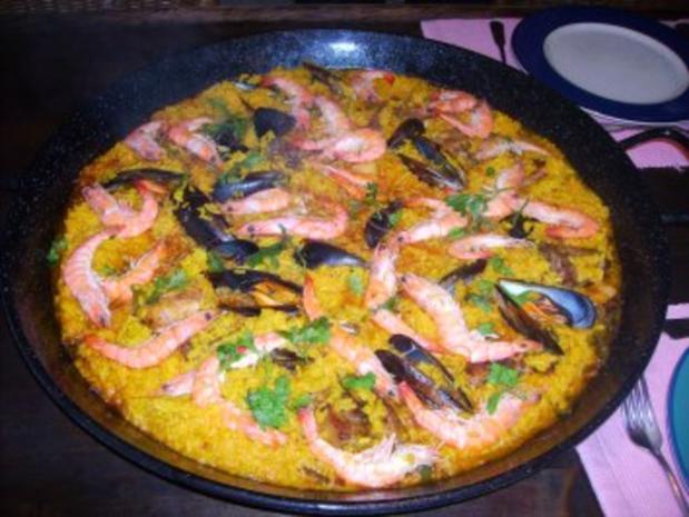 paella pfanne - Rezept