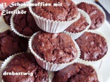 Kuchen~Muffin~Schoko mit Eierlikör - Rezept