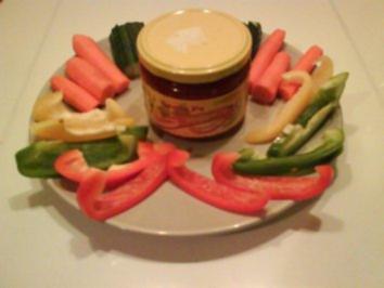 Abendbrot: Gemüsedip mit Salsa Dip(Medium) - Rezept