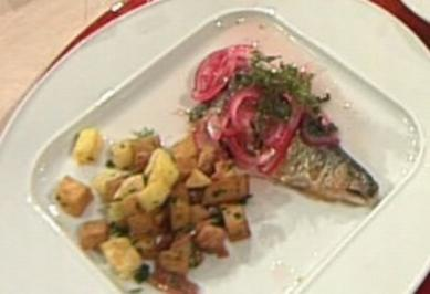 Rezept: Brathering süß-sauer mit Würfelkartoffeln á la Henssler