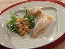 Gefüllter Tintenfisch mit Papaya-Rucola-Salat (Aleks Bechtel) - Rezept