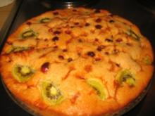 Backwaren: Cranberries-Kiwi-Limoncellokuchen - Rezept