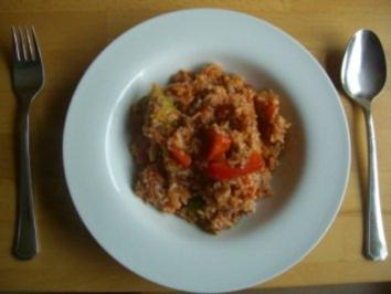 Hackfleisch - Reistopf - Rezept