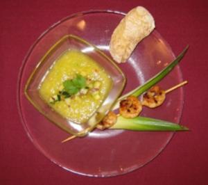 Ananas-Kaltschale mit Garnelen - Rezept