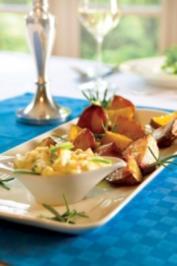 Putenspieße zu Ofenkartoffeln - Rezept