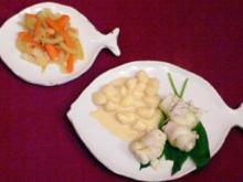 Bärlauch-Schollenröllchen mit Gnocchi, Karotten-Fenchelgemüse - Rezept