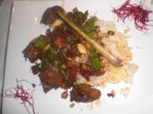 Mariniertes Hühnchen aus dem Wok - Rezept