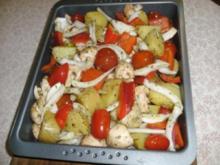 Ofenkartoffeln Mediteran - Rezept