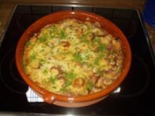 Gulasch-Mett-Topf mit Kartoffelkruste - Rezept