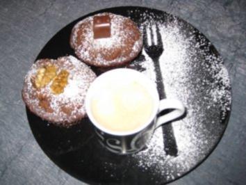 Schoko-Erdnuss-Mandel-kaffee-Muffins - Rezept