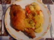 Kartoffelsalat mit Gewürzgurken und Tomaten - Rezept