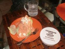 Iceberg  Keile fuer einen schnellen Salat - sehr einfach- gut mit Casserole - Rezept