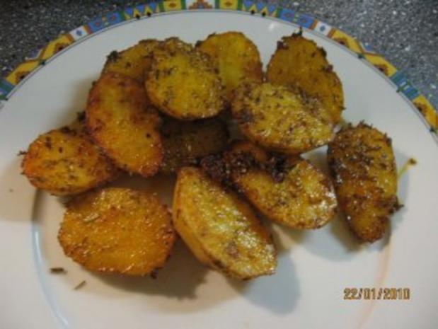 Ofen-Kartoffeln country potatoes - Rezept