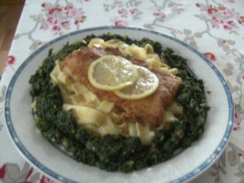 Pangasius -Filet im Spinatnest - Rezept