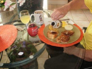 Fruehstueck -  181 Kal. Fett arm - Gefuellter French Toast -Leicht zu machen - Mit Bilder - Rezept